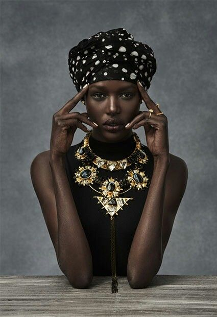 Wow......African beauty Ajak Deng great models