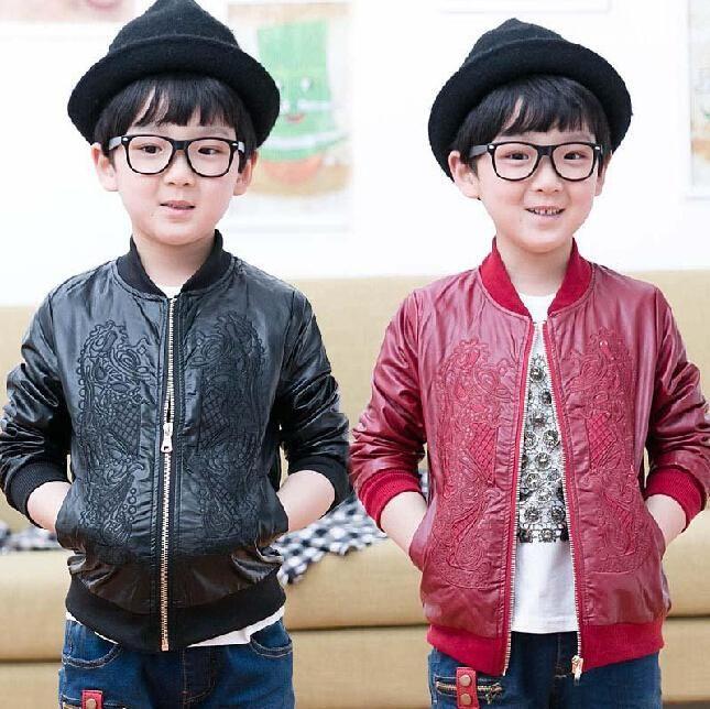 Wholesale Fashion Kids Leather Jackets Fashion Boys Jacket Child Clothes…