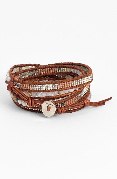 Chan+Luu+Beaded+Leather+Wrap+Bracelet+available+at+#Nordstrom