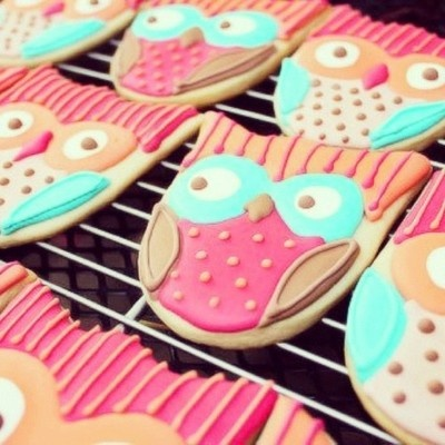 Super cute owl cookies :) I need to find a tutorial on how to bake like this!