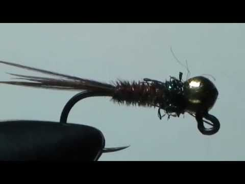 Wędkarstwo Muchowe - Nimfa Brązka Killer 14 haczyk.mpg - YouTube