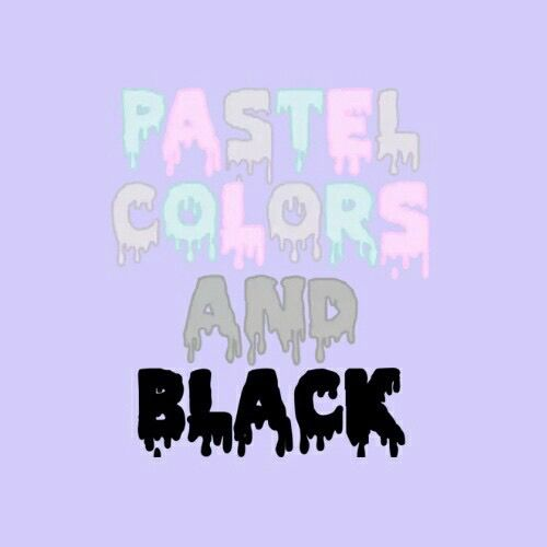 Pastel colors and black