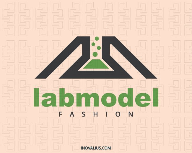 Lab Model is an abstract logo with the shape of a dress together with a bottle with black and green colors.(beauty, elegance, charm, lab, model, beauty, laboratory, dress, laboratories, beautiful, style, bottle, shirt design, fashion, shirts online, logo for sale, logo design, logo, logotipo).