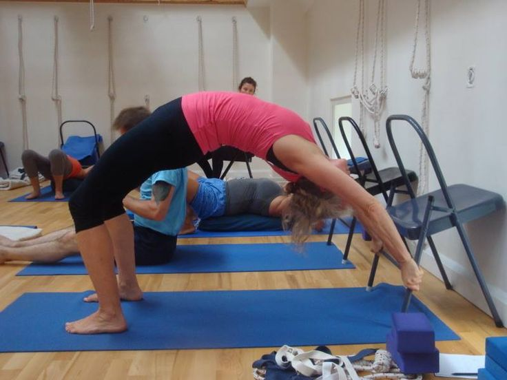 The 99 best images about iyengar yoga chair back bends on for Chaise yoga iyengar