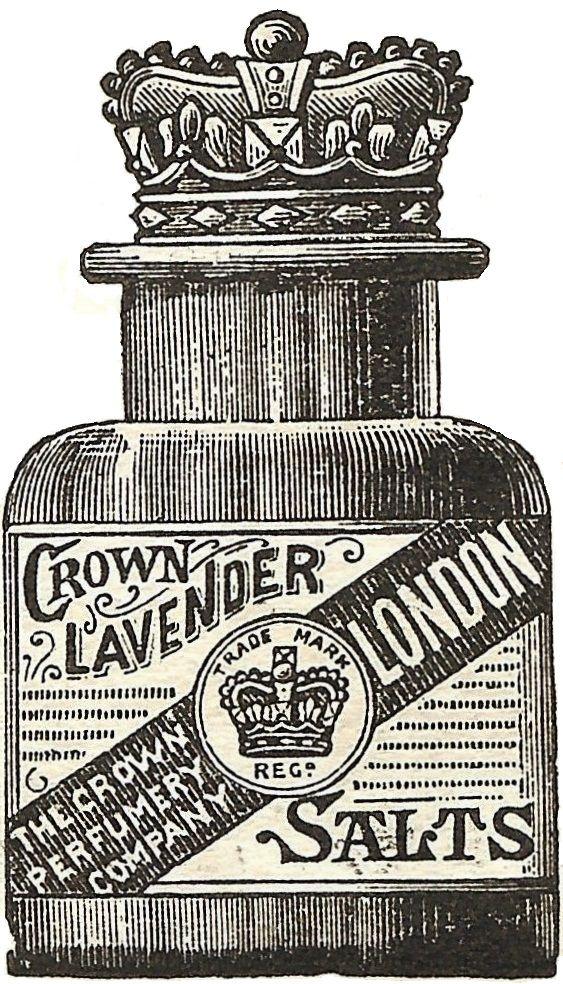vintage lavender salts engraving