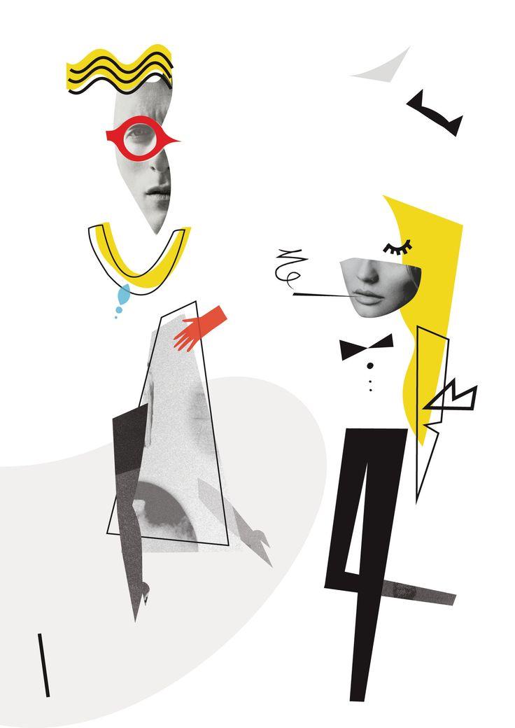 """Magda Pilaczynska -  Illustration for Sezon magazine on """"gender vs fashion"""""""
