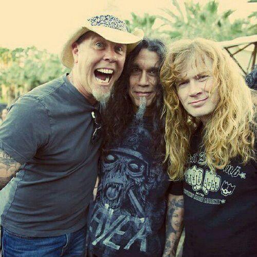 James Hetfield, Tom Araya and Dave Mustaine................