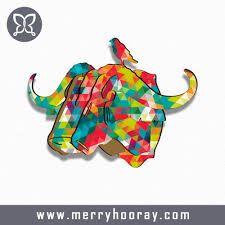 Afbeeldingsresultaat voor kleurrijke dieren objecten voor aan de muur
