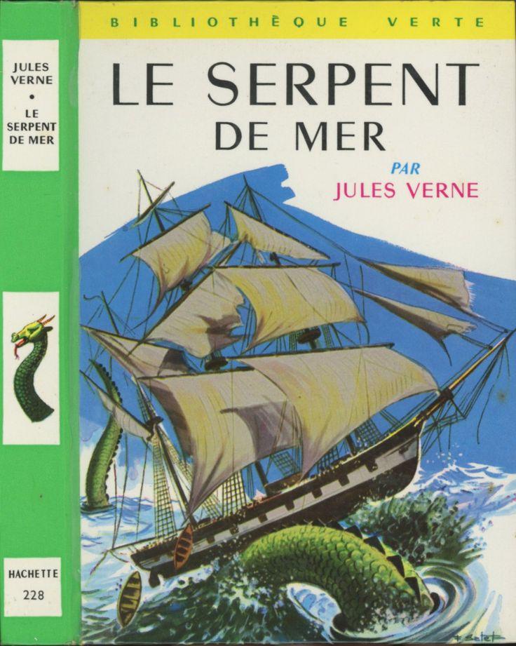 François Batet - Le serpent de mer, Jules Verne, Hachette Bibliothèque Verte 1966