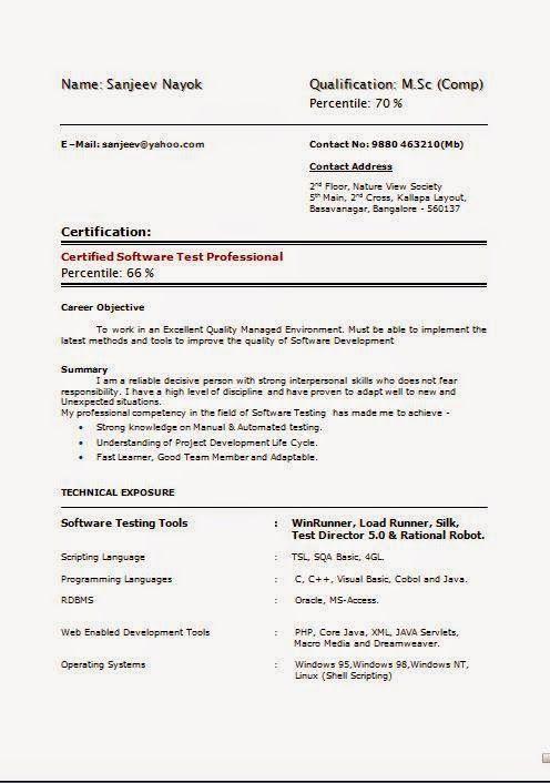 28395 best Brainfood images on Pinterest Cv format, Resume - sample resume for software testing freshers