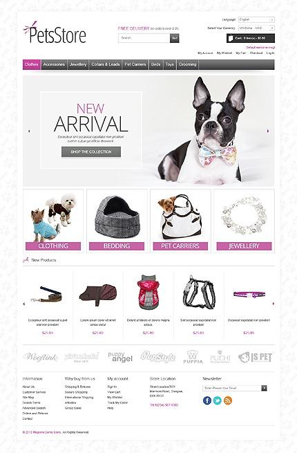 Pets Store Magento Theme #dog #website http://www.templatemonster.com/magento-themes/42675.html?utm_source=pinterest&utm_medium=timeline&utm_campaign=pets
