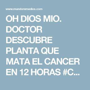 OH DIOS MIO. DOCTOR DESCUBRE PLANTA QUE MATA EL CANCER EN 12 HORAS #COMPARTE ESTA INFORMACION DEBE VOLVERSE VIRAL