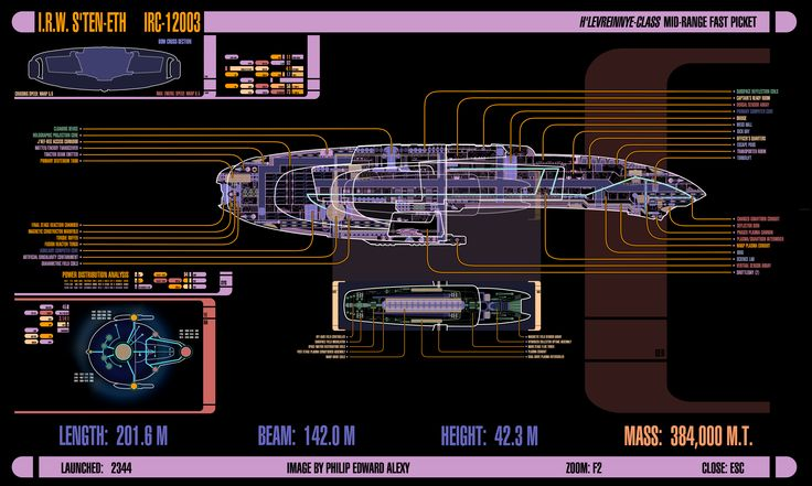 I.R.W. S'Ten'eth, LCARS Diagram by harroldsheep.deviantart.com on @deviantART