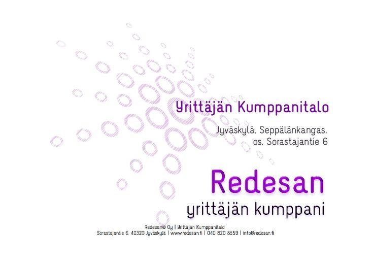 Yrittäjän Kumppanitalon esittely by Redesan - yrittäjän kumppani via slideshare