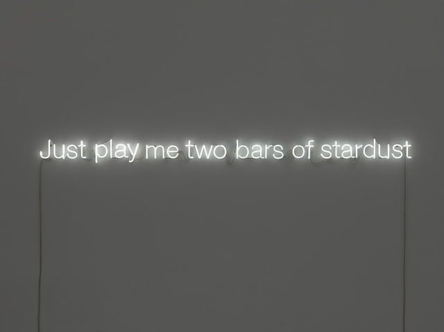 Cerith Wyn  Evans, Just play me two bars of stardust (2011), via Artsy.net