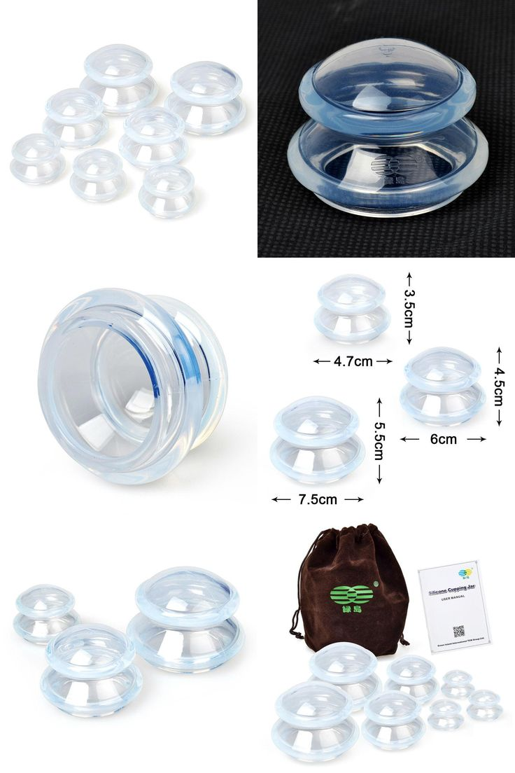 [Visit to Buy] 7pcs/set Household Silicone Cupping 3 Sizes Anti Cellulite Vacuum Chinese Suction Cupping Therapy Set Body Message #Advertisement