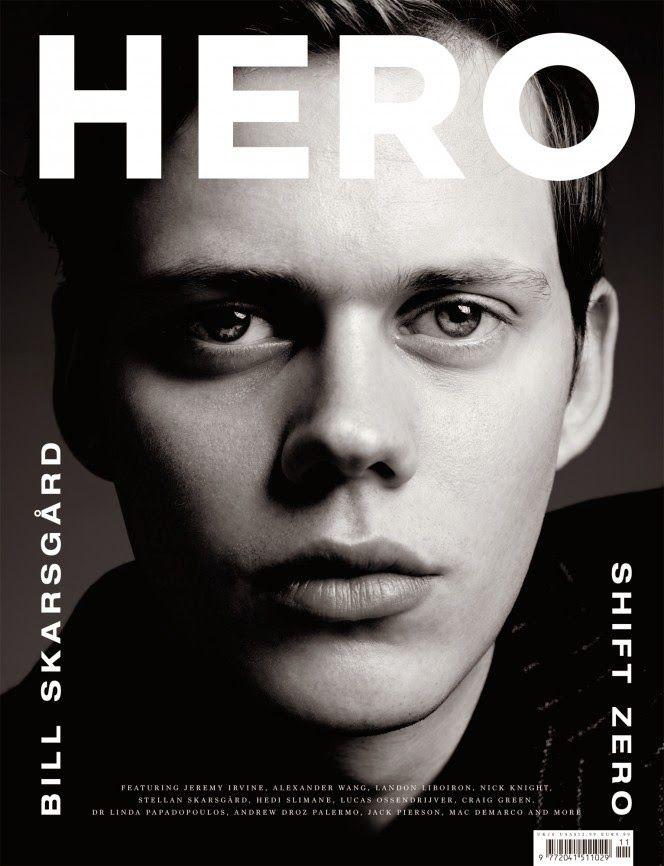 Hedi Slimane Shoots Bill Skarsgård for Hero Cover