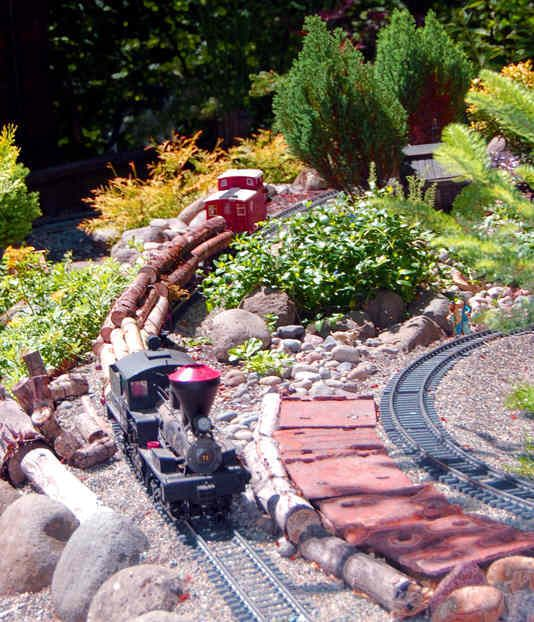 17 best ideas about garden railroad on pinterest model for Garden railway designs