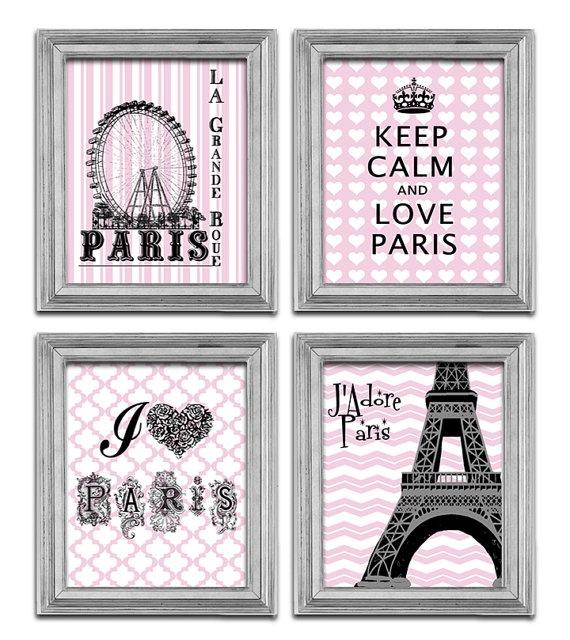 I love Paris Art Eiffel Tower Print Modern poster by EEartstudio, $29.99