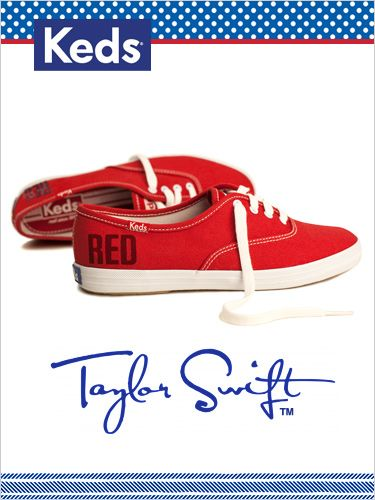"taylor swift ""red"" ked shoes!!!!!"