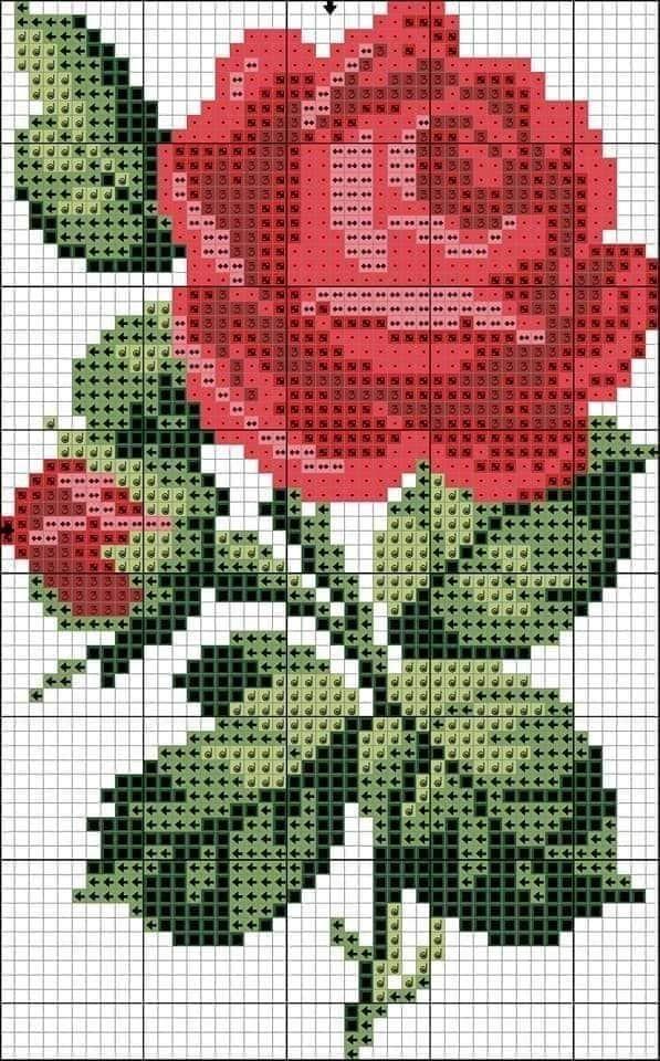 Ponto Cruz Graficos Ponto Cruz Flores Rosa Ponto Cruz Ponto Cruz