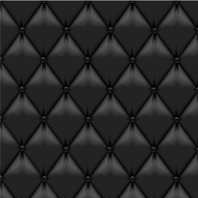 Black leather upholstery background Wallcoverings