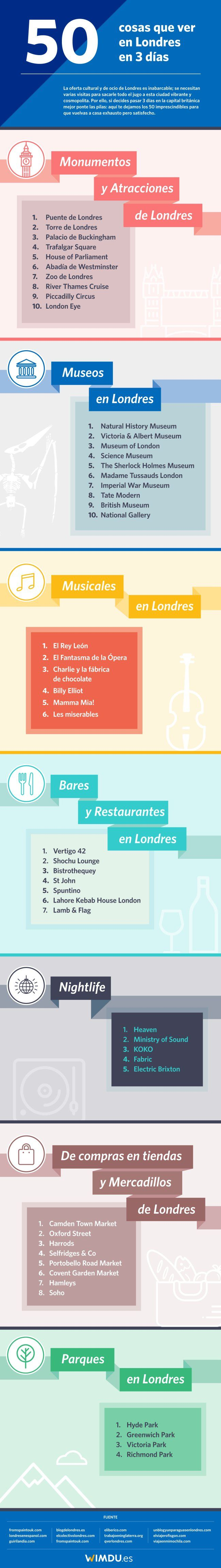50 cosas que ver y hacer en Londres