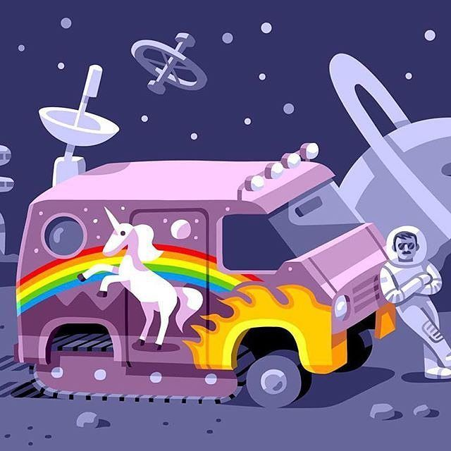 Unicorn x go on the road chibirmingham illustration creative