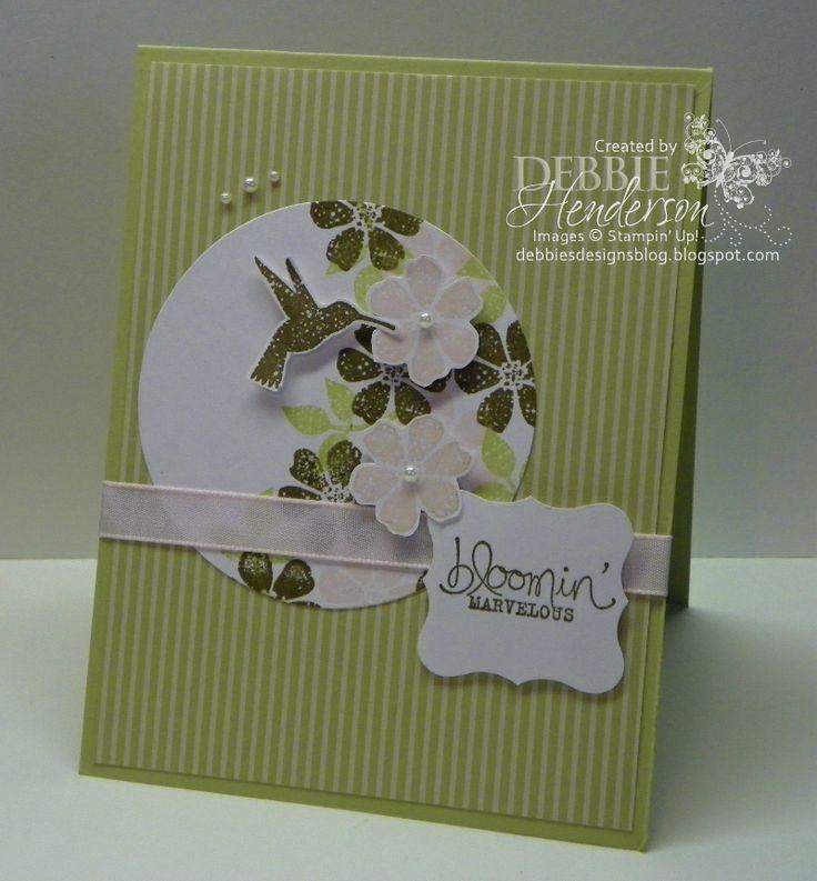 Stampin' Up! Bloomin' Marvelous by Debbie Henderson, Debbie's Designs.