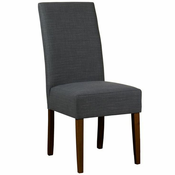 debenhams pair of grey 39 parsons 39 dining chairs with dark. Black Bedroom Furniture Sets. Home Design Ideas