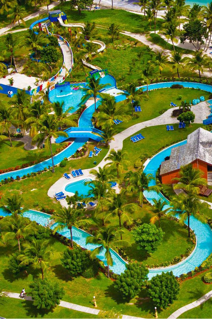 Grab an inner tube and feel your worries drift away along the lazy river at CocoLand Waterpark, found only at Saint Lucia's Coconut Bay Beach Resort & Spa. It's a great destination for the entire family! #AskMeDestinationWeddings