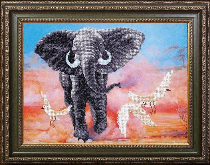 Набор для вышивания бисером Магия канвы Б-293 Африканский слон