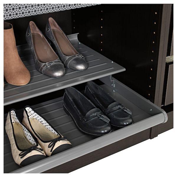 Komplement Wysuwana Polka Na Buty Ciemnoszary 75x58 Cm Zamow Dzis Ikea Shoe Shelf Shoe Shelves Ikea Komplement