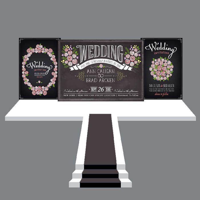 婚礼背景设计 典礼舞台设计 婚礼效果图 高端庆典平面喷绘设计42-淘宝网全球站