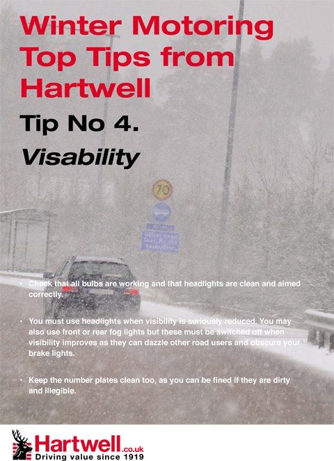 Visability tips for winter from Hartwell Plc     Tucson auto body shop, collision repair, auto body restoration