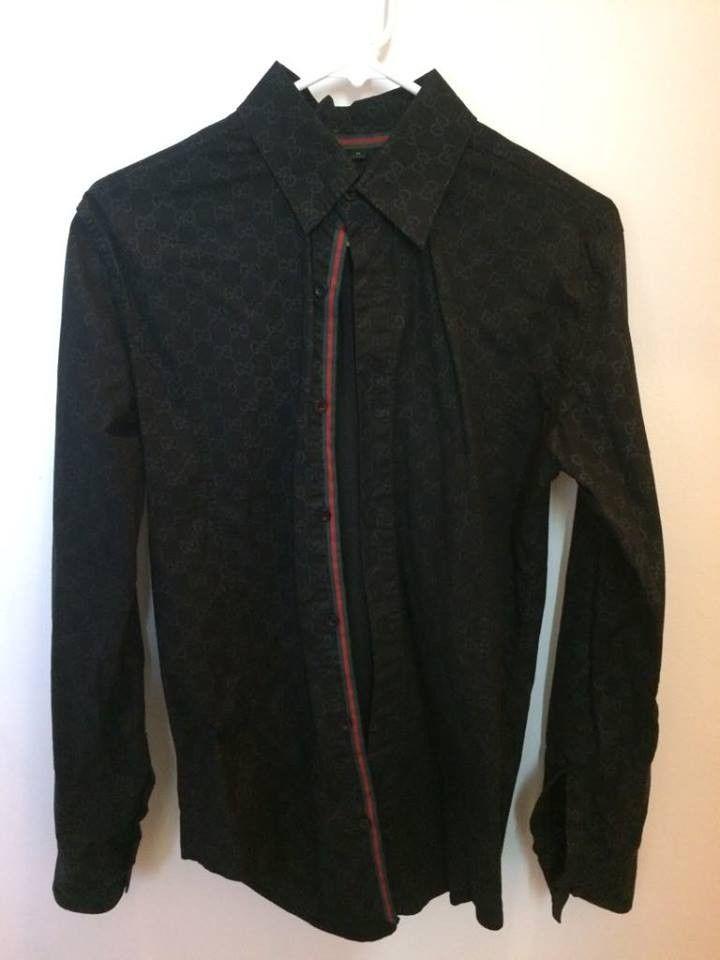 d0ca27051a1 Gucci Button Down black Color Men s Dress Shirt Size Medium  fashion   clothing  shoes  accessories  mensclothing  shirts (ebay link)