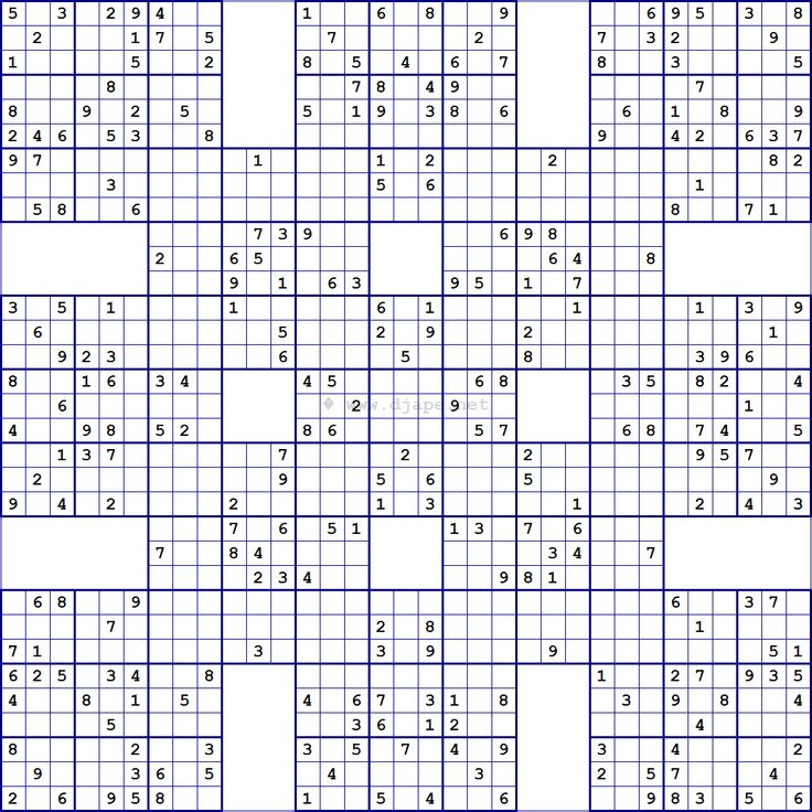 Samurai Sudoku 13 Grid Super samurai sudoku 13 grids sudoku pinterest ...