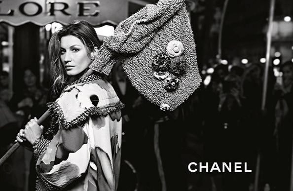 Brazilian supermodel Gisele stars in Chanel's Parisian spring/summer 2015 campaign.