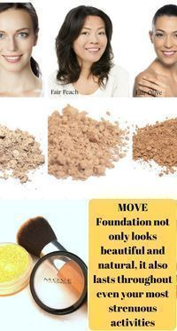 Vegan Sweat-Proof Natural Mineral Foundation's unique formula produces a sweat-proof foundation that won't budge while your working out, running errands, or just busying through life #ad #makeup #MOVE #vegan #foundation #beauty