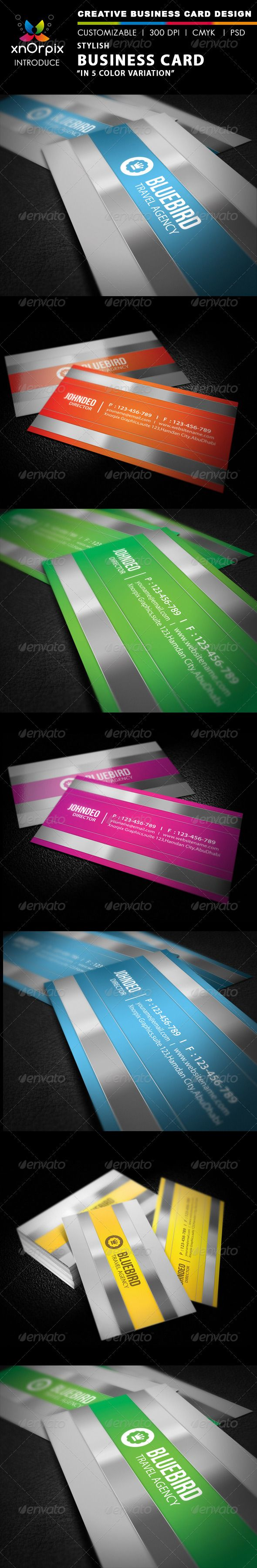 Stylish Business Card - Corporate Business Card Template PSD. Download here: http://graphicriver.net/item/stylish-business-card/2044848?s_rank=265&ref=yinkira