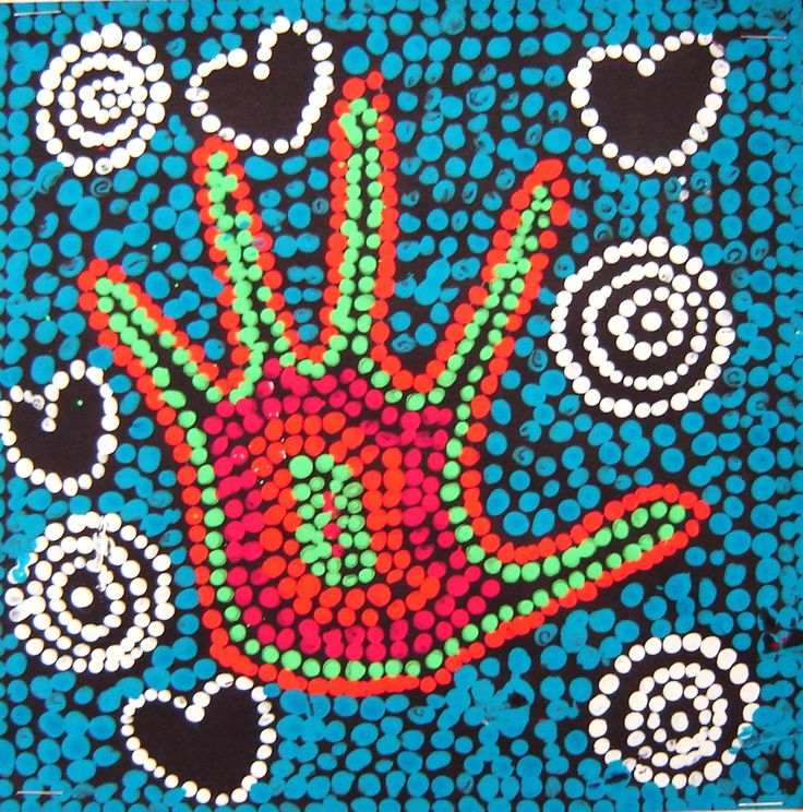 "Aboriginal Inspired ""Dot Art"". Gotta try this.  Looks fun!  A colleague did this activity this year and it turned out amazing!"