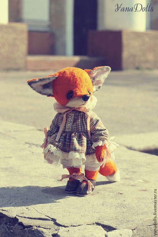 Купить Феня - рыжий, лиса, лиса игрушка, лиса тедди, плюш, лисичка, тедди