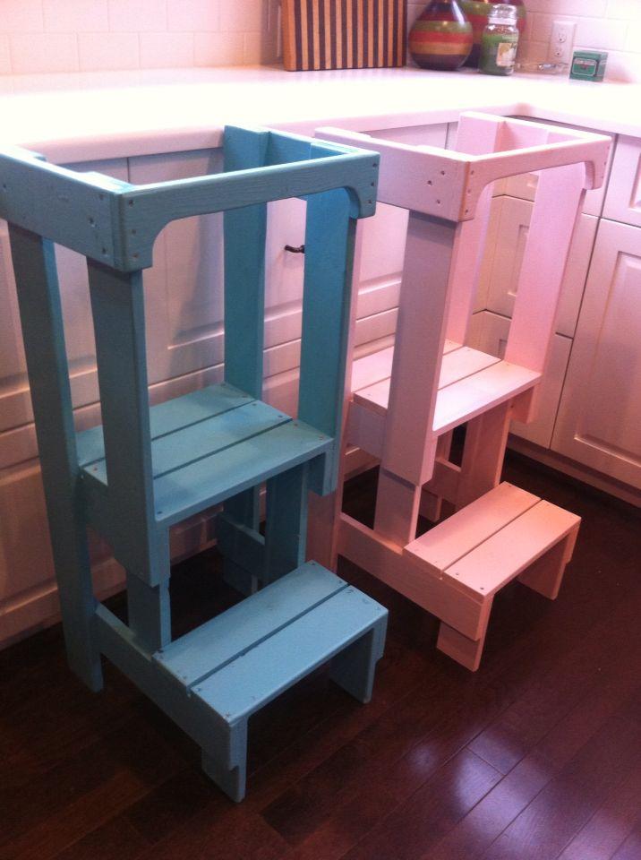 Toddler Helper Stools (a Burgundy Basket Build) on Facebook and etsy The Burgundy Basket