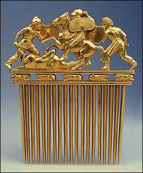 Comb with a Scythians in Battle, Late 5th - early 4th century BCE