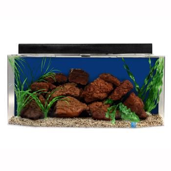 SeaClear Flatback Hexagon Aquarium Combo in Cobalt Blue