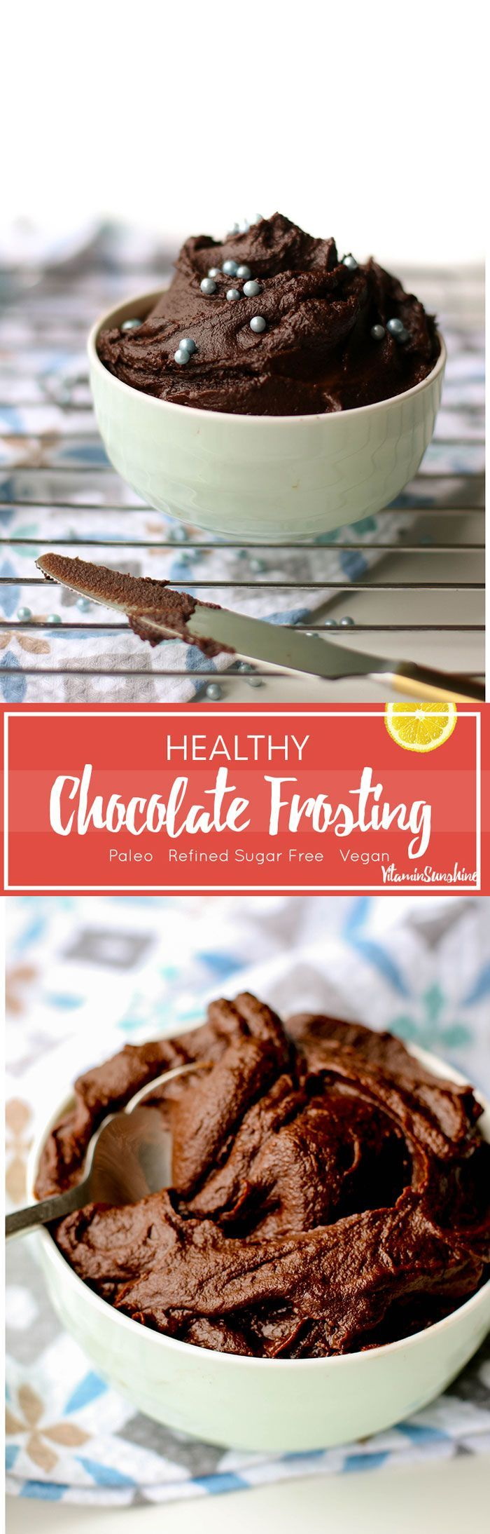 Healthy Chocolate Frosting / This rich and fudgy chocolate frosting is made with a base of sweet potatoes and is naturally sweetened.