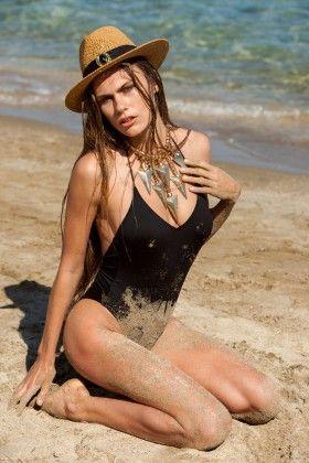 ACHELYA ULUCHAY Star Siyah Mayo: Lidyana.com
