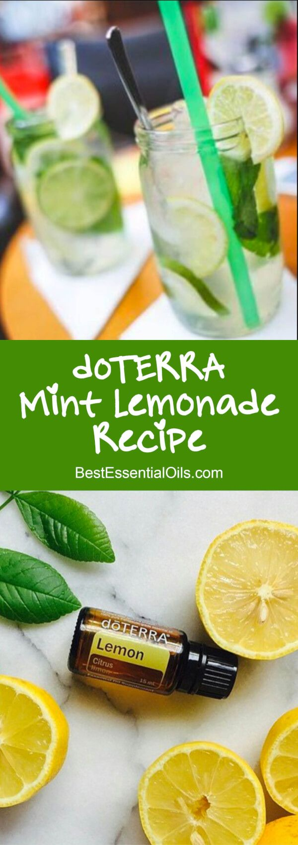 doTERRA Mint Lemonade Recipe Lemon and peppermint oils with sugar to taste and sparkling water