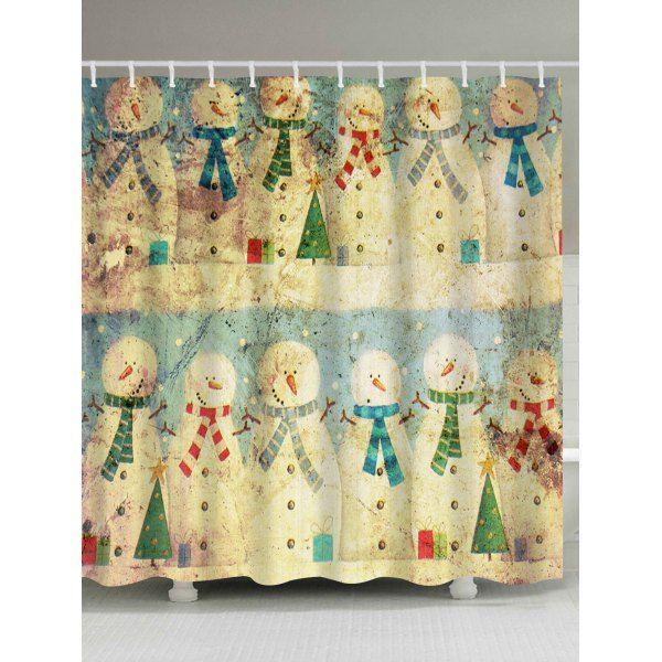The 25+ best Snowman shower curtain ideas on Pinterest   Christmas ...