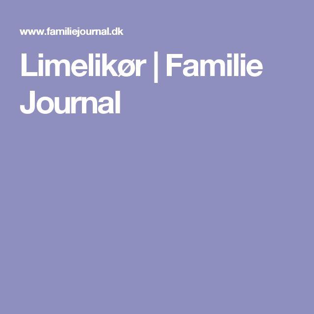 Limelikør | Familie Journal